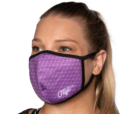 Jiu Jitsu Facemasks Purple - Packs of 5
