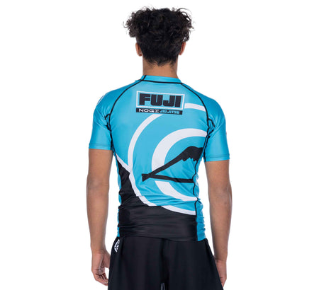 Peak Jiu-Jitsu Short Sleeve Rashguard Blue