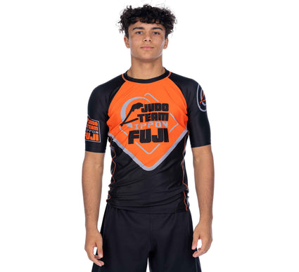 Peak Judo Short Sleeve Rashguard Orange