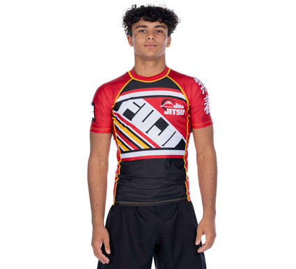 Skyline Jiu-Jitsu Short Sleeve Rashguard Red