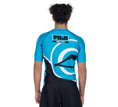 Peak Judo Short Sleeve Rashguard Blue
