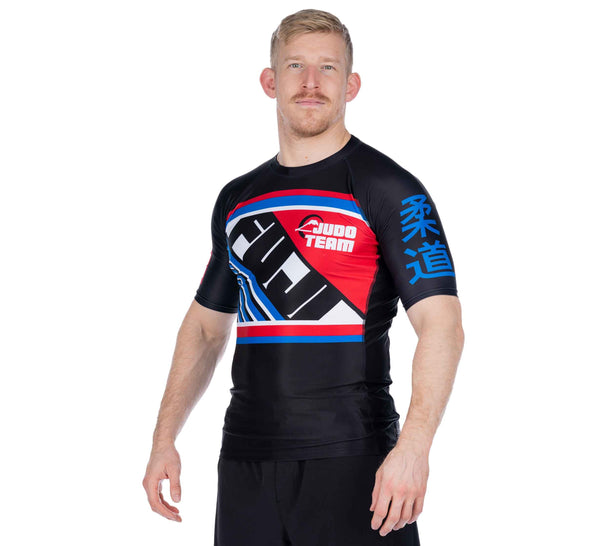 Skyline Judo Short Sleeve Rashguard Black