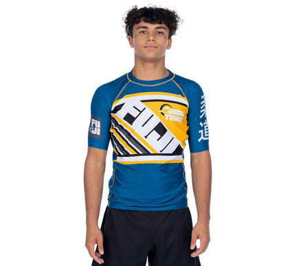 Skyline Judo Short Sleeve Rashguard Blue