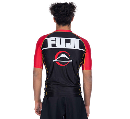 Skyline Judo Short Sleeve Rashguard Red