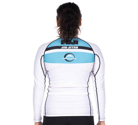 Reversal Girl's Long Sleeve Rashguard White