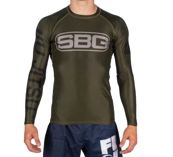 SBG Green Youth Long Sleeve Rashguard