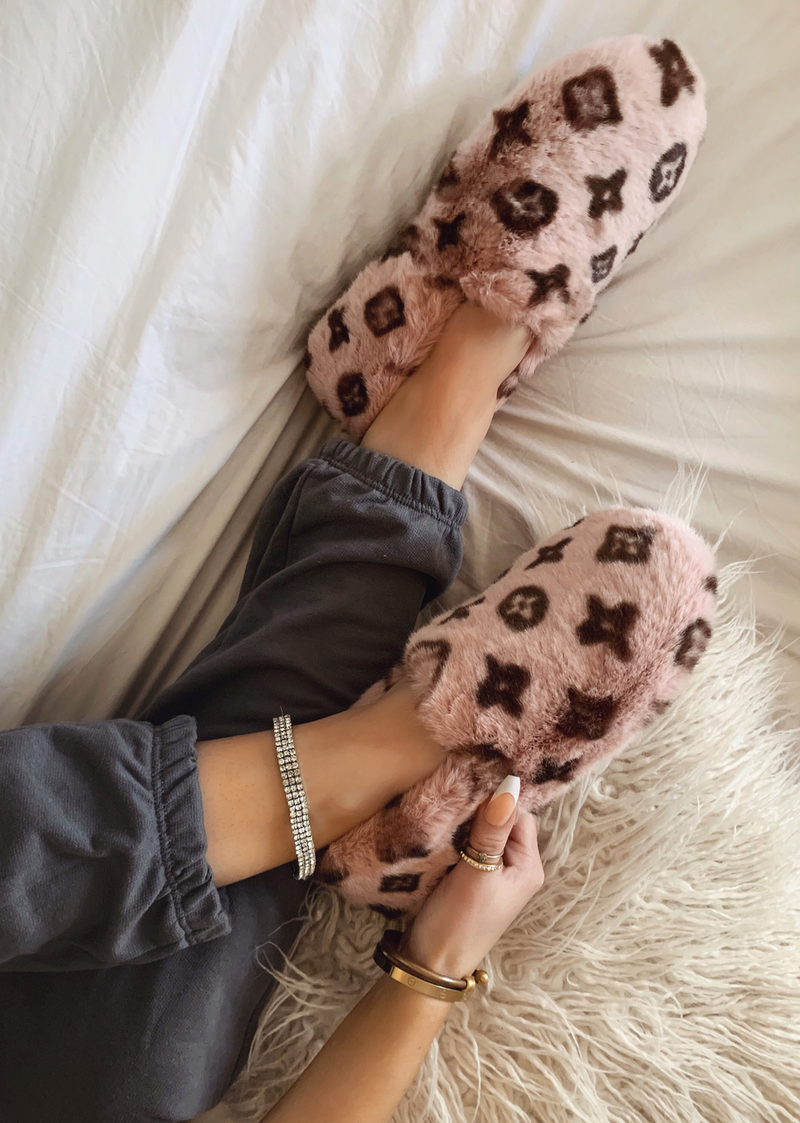 SWEET TOUCH PINK FAUX FUR LOAFER