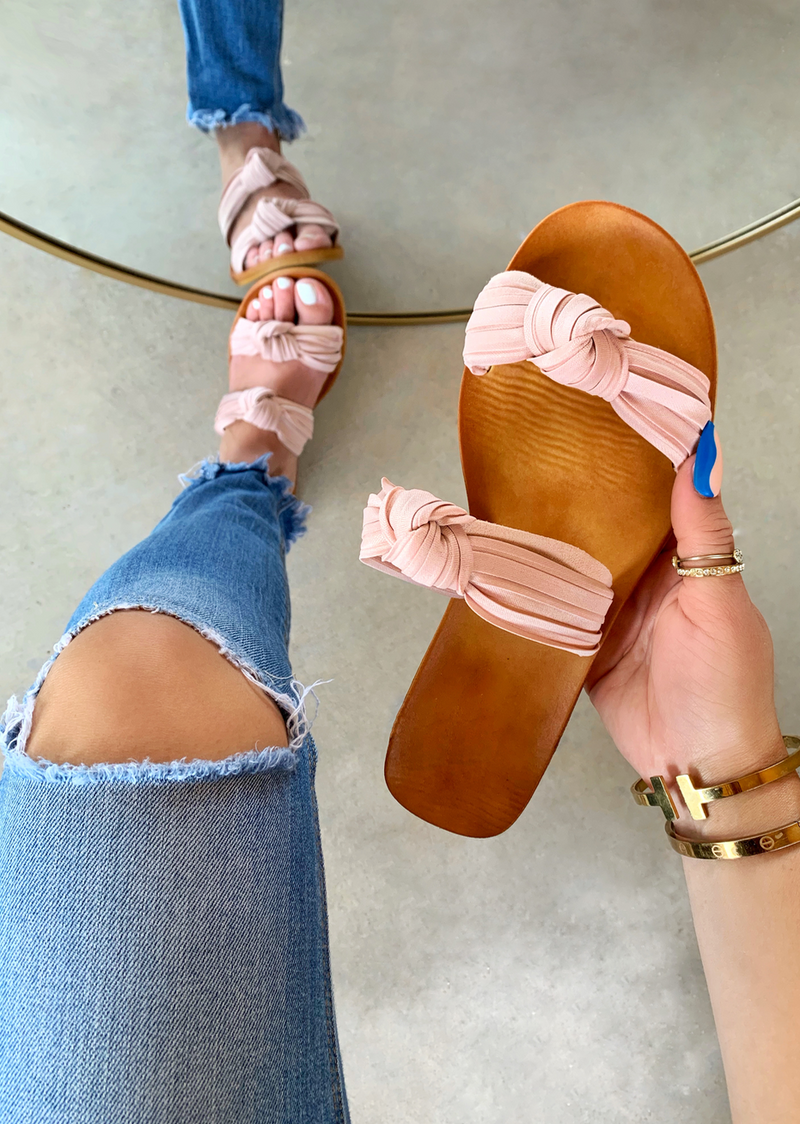 A SPRING SITUATION BLUSH SANDALS