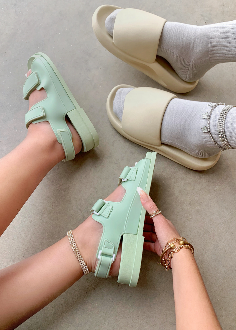ELEVATED MINT GREEN DAD SANDAL