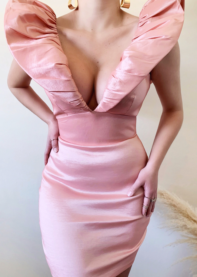 THE SWEETEST ESCAPE SATIN DRESS