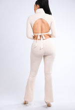 ALWAYS CONFIDENT CROP RIBBED SET