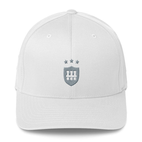 Structured Twill Cap - WIFOOS State Championships Logo - Gray on White