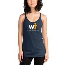 Women's Racerback Tank - WIFOOS Logo - White/Gold on Color