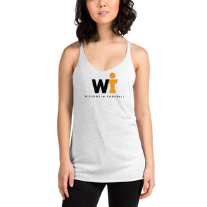 Women's Racerback Tank - WIFOOS Logo - Black/Gold on White