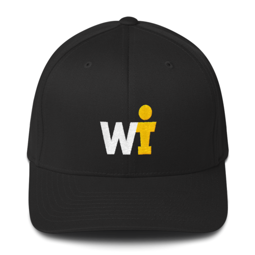 Structured Twill Cap - WIFOOS Logo - White/Gold on Color