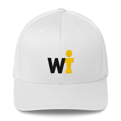 Structured Twill Cap - WIFOOS Logo - Black/Gold on White