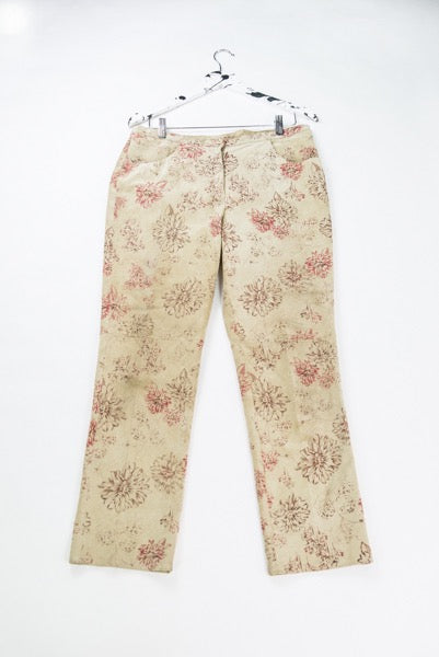 Illustrated Suede Trousers