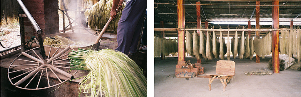 straw bag unalome production process
