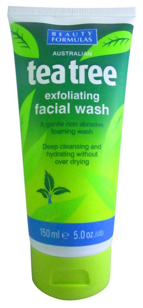 Acne and products for its control Beautizone UK - Beauty Formulas Tea Tree Exfoliating Facial Wash
