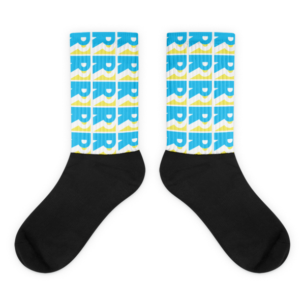 Beach Blue Double R Tropical Socks