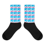 Blue Double R Tropical Socks