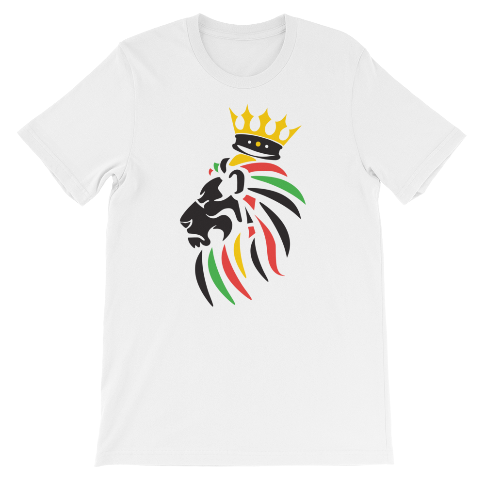 White Rebel Lion Rasta T-Shirt