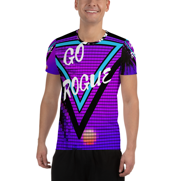 Electric Sunset | Men's Athletic T-shirt