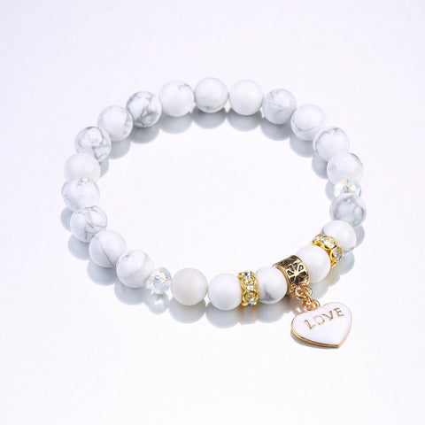 Love Charm Heart Bead Bracelet