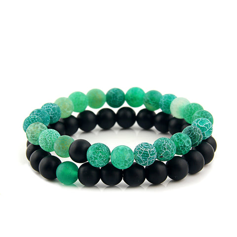 Green Onyx Bead Bracelet (Pack Set)