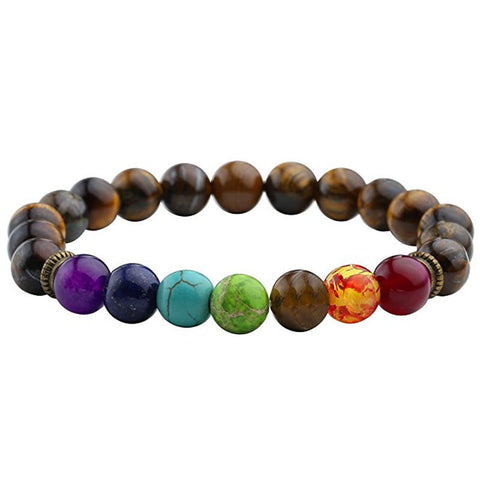 Wheel Bead Bracelet (Chakra) (Brown)