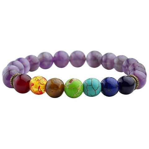 Wheel Bead Bracelet (Chakra) (Purple)