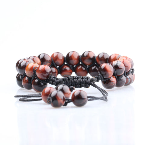 Double Row Hickory Gloss Bead Bracelet