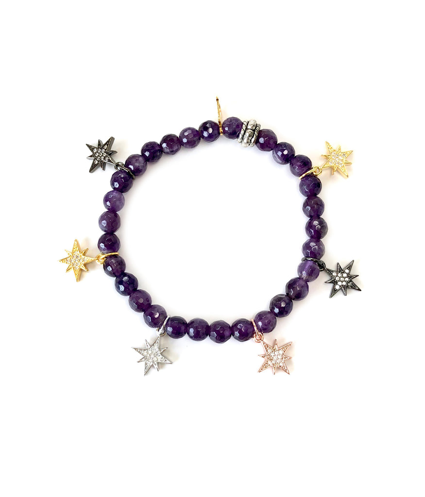 Colored Mini Starburst Charm Bracelets