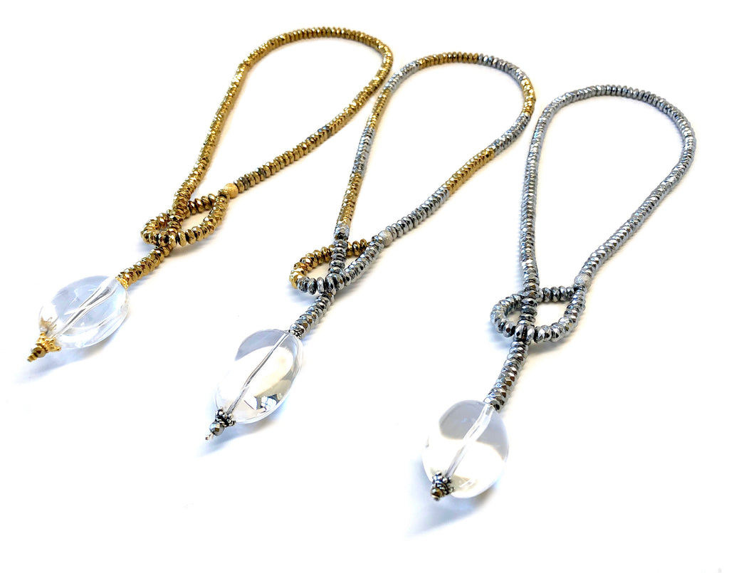 Cabochon Quartz Drop Necklace Collection