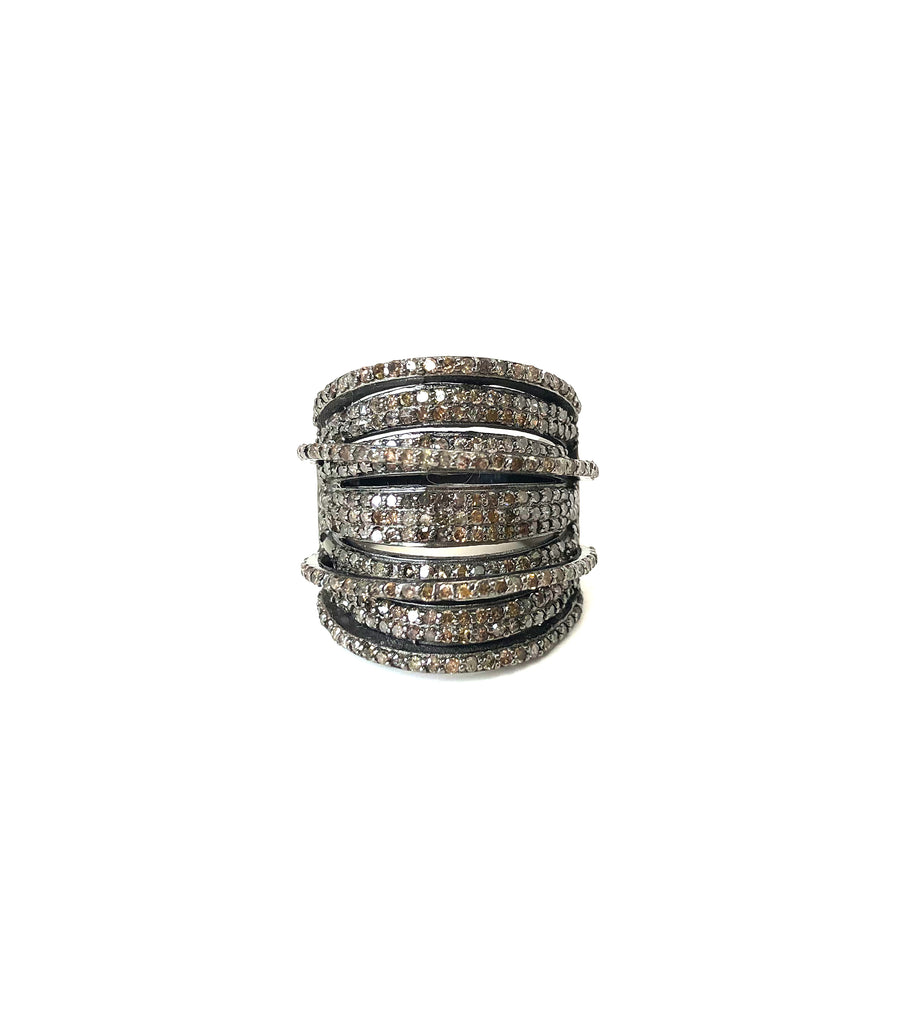 Diamond Bands Wrap Ring