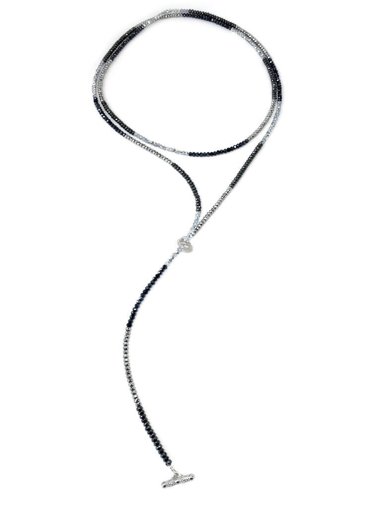 Diane Dash Silver, Light Blue & Navy Toggle Necklace