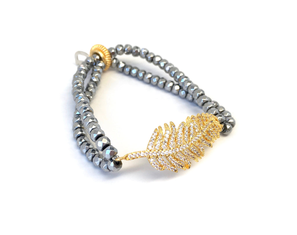 Double Strand Feather Bracelet