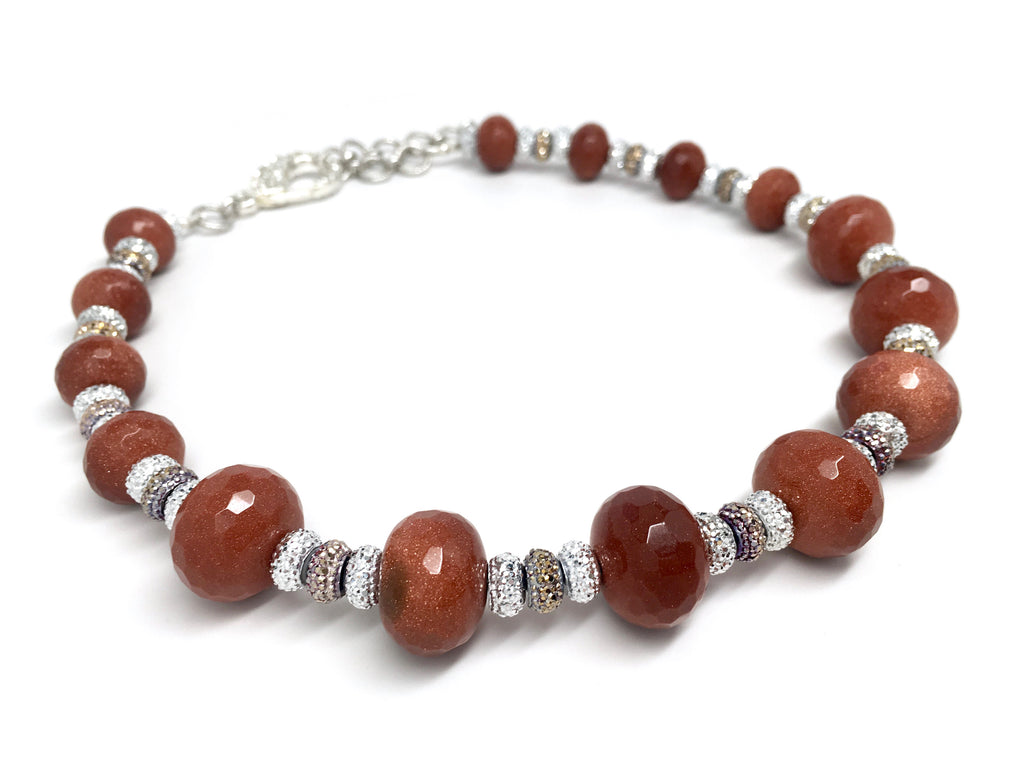 Sparkly Goldstone Necklace