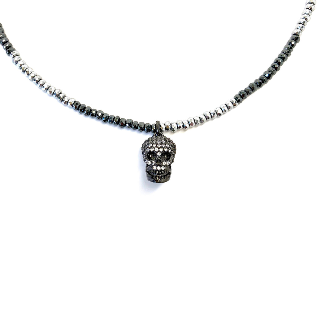 Crystal Skull Charm Necklace