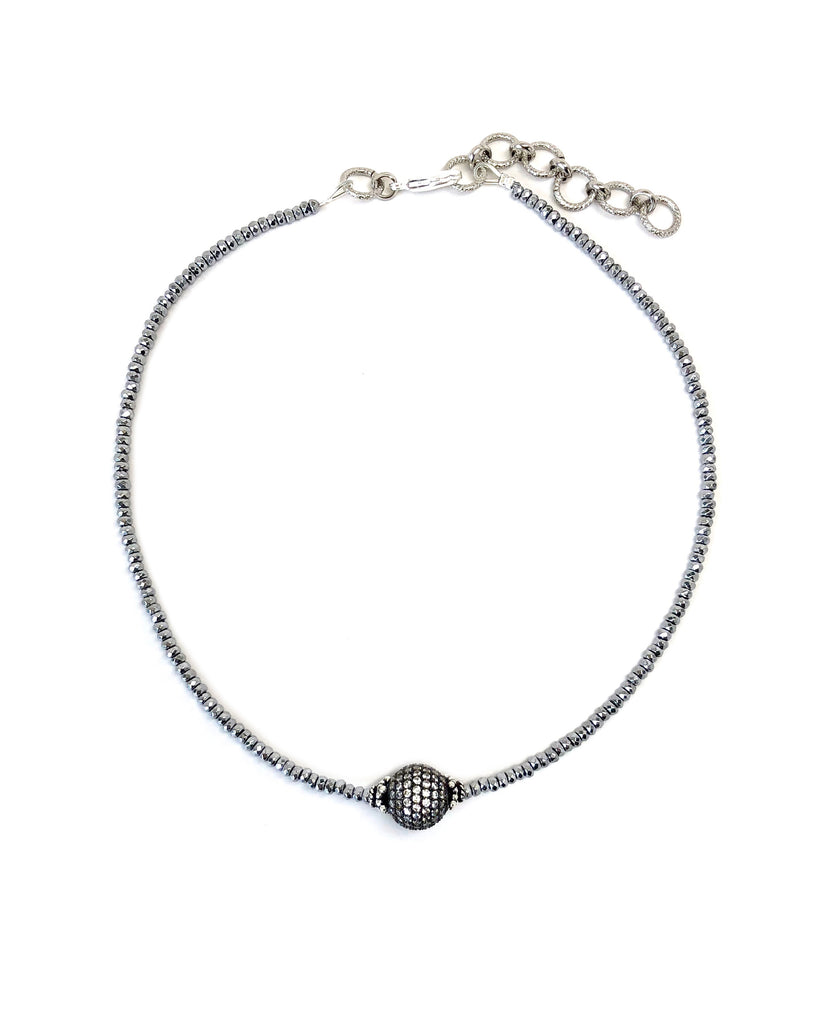 Pave Ball Collar Necklace Collection