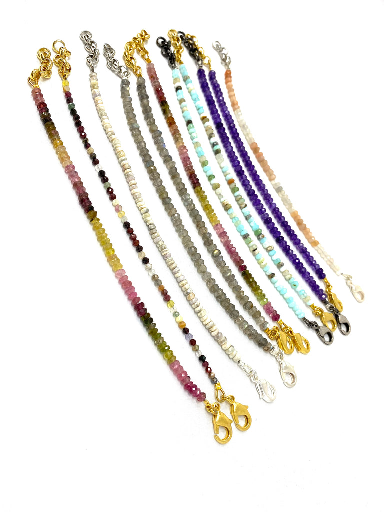 Single Strand Gemstone Bracelets