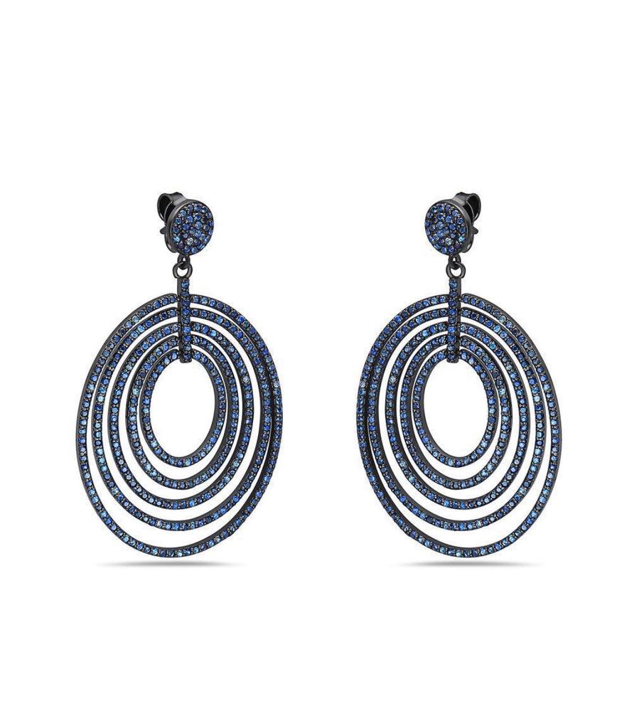 Sapphire Multiple Hoop Earrings