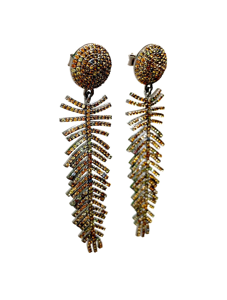 Topaz Feather Earrings