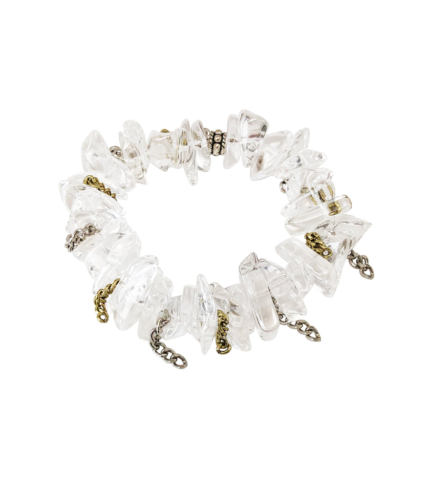 Ice Beach Quartz Bracelet with Chains