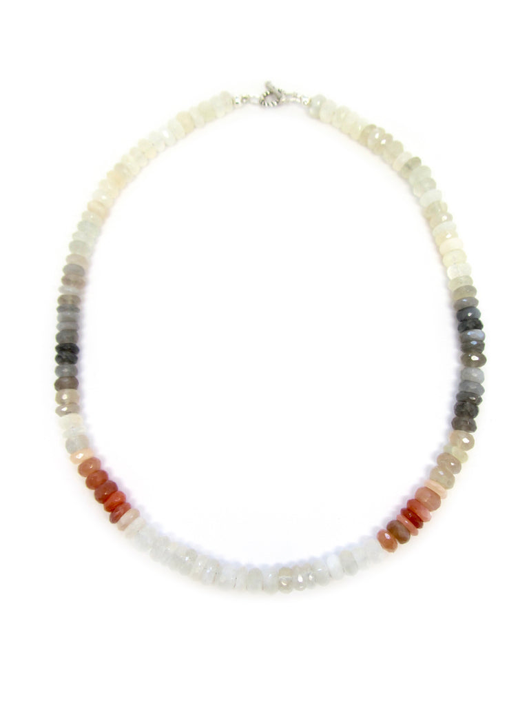 Multi-Colored Moonstone Necklace