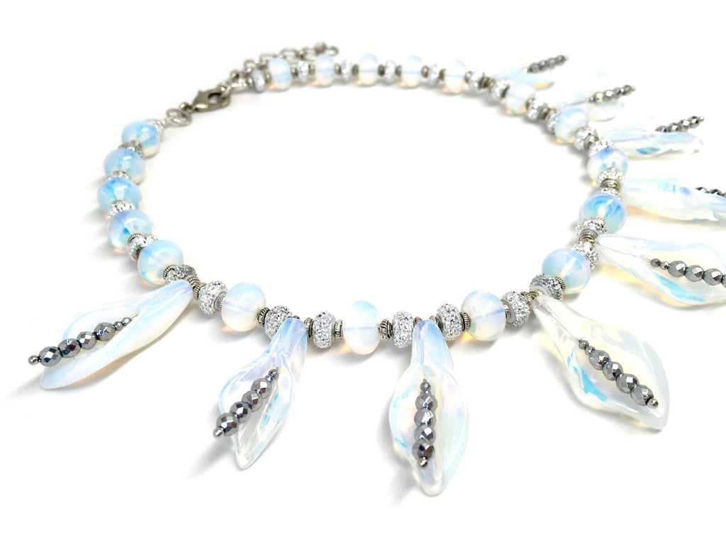 Opalite Lily Necklace