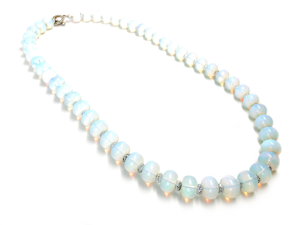 Opalite Rondelle Long Necklace