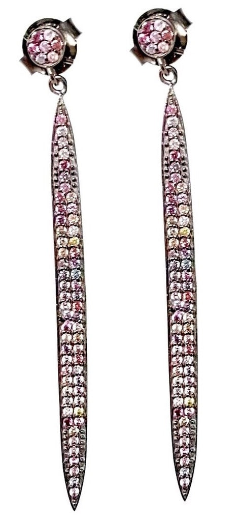 Tourmaline Long Stick Earrings