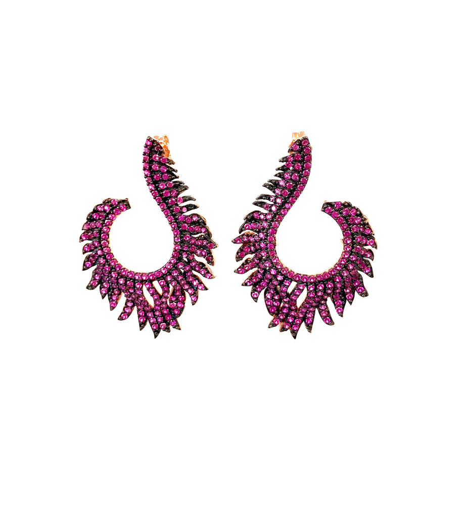 Ruby Flame Earrings