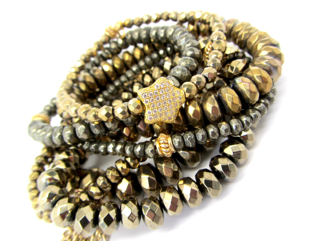 Shooting Star Gold Hematite & Pyrite Stack